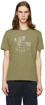 MAISON KITSUNÉ Khaki Palais Royal T-Shirt