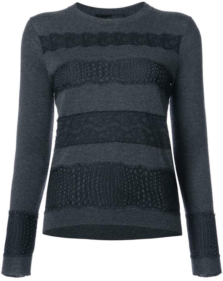 Giambattista Valli lace panel sweater