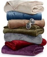 Sunbeam CLOSEOUT! Slumber Rest Velvet Plush Heated Blankets