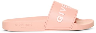 Givenchy Pink logo rubber slides