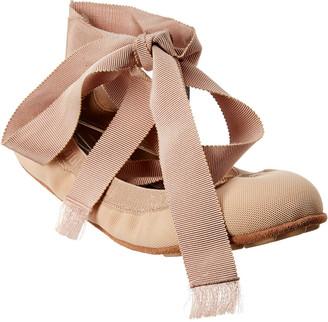 Christian Dior Academy Lace Up Mesh Ballerina Flat