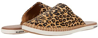 SeaVees Lido Slide Printed Cowhide (Leopard) Women's Shoes