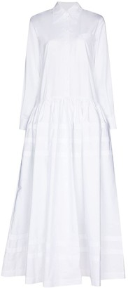 Rosie Assoulin Pleated Long Shirtdress