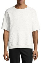 ATM Anthony Thomas Melillo Short-Sleeve Melange Sweatshirt, Gray