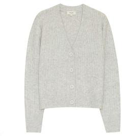 Grace & Mila - Ribbed Knit Cardigan Grey Marl - Small