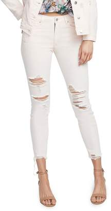 Rachel Roy Raw Hem Rachel Icon Skinny Jeans