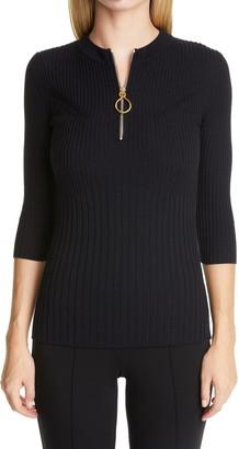 St. John Fine Wool Rib Sweater
