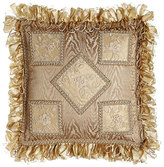 "Meriemont Patch Pillow with Ribbon Loop Fringe, 13""Sq."
