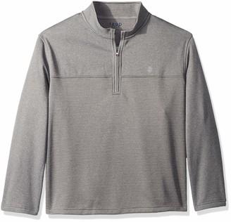 Izod Men's Big Golf Hydra Shield Quarter Zip Stripe Pullover