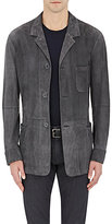 Giorgio Armani Men's Suede Shirt Jacket