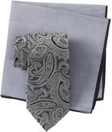 Ted Baker Silk Tonal Paisley Tie & Pocket Square Set