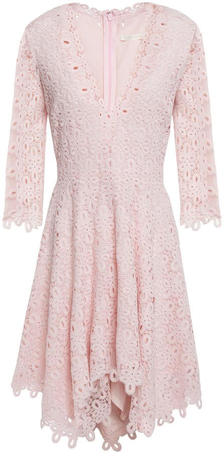 Jonathan Simkhai Asymmetric Guipure Lace Mini Dress