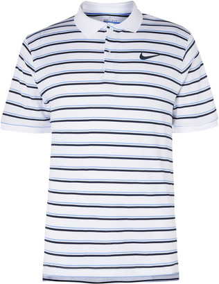 Nike Tennis Nikecourt Slim-Fit Striped Dri-Fit Polo Shirt
