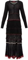 Altuzarra Dogwood Front-slit Cotton-crochet Dress - Womens - Black