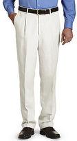 Oak Hill Waist-Relaxer Pleated Linen Suit Pants Casual Male XL