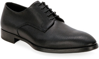 Giorgio Armani Men's Textured Leather Derby Shoes