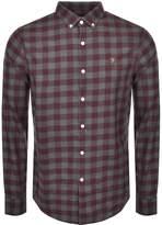 Farah Murial Check Shirt Red