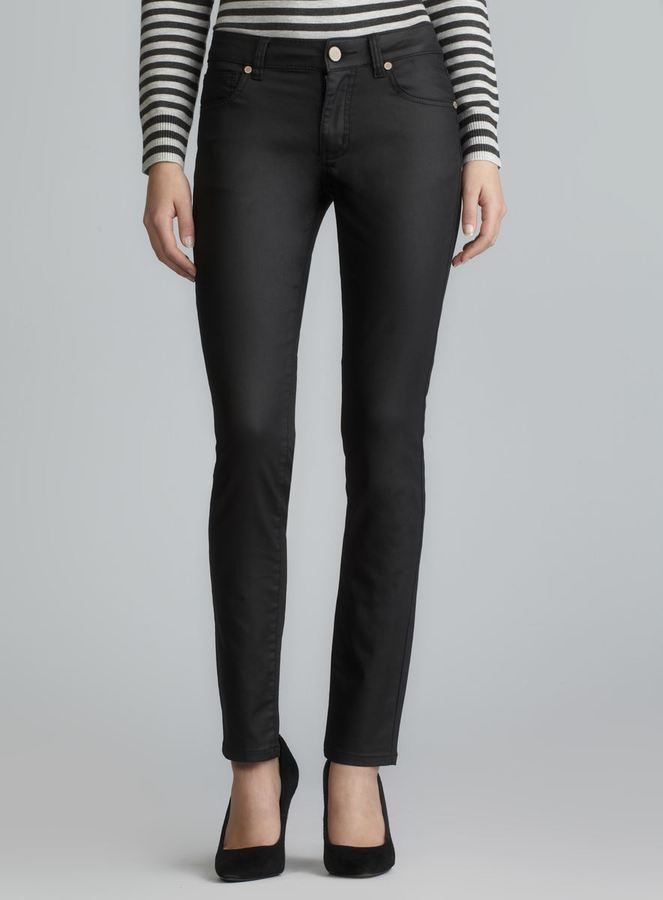 Romeo & Juliet Couture Black Coated Skinny Jeans