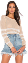Splendid Halloway Mesh Sweater in Beige. - size L (also in M,S)