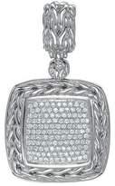 John Hardy Square Pave Diamond Pendant