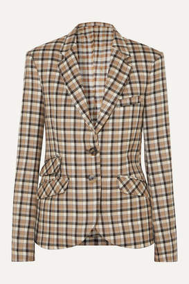 Paco Rabanne Checked Wool-twill Blazer - Beige