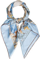 Hermes Les Boxes Silk Scarf