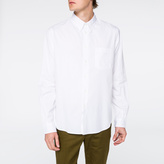 Paul Smith Men's White Button-Down Cotton Shirt