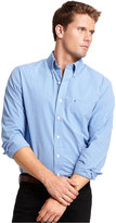 Izod Big and Tall Long-Sleeve Essential Mini Checked Shirt