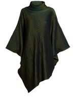 Issey Miyake Auroral roll-neck ripple-knit poncho