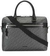 Christian Dior logo pattern briefcase - men - Cotton/Polyurethane - One Size