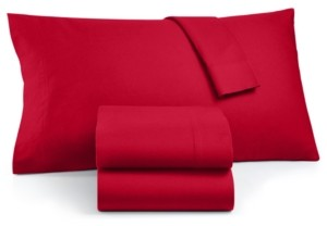 Martha Stewart Closeout! Collection 100% Cotton Flannel 4-Pc. Full Sheet Set, Created for Macy's