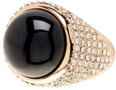 House Of Harlow Embellished Black Onyx Ring
