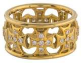 Elizabeth Showers 18K Diamond Maltese Cross Ring