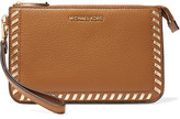 MICHAEL Michael Kors Whipstitched Textured-Leather Clutch
