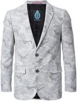 GUILD PRIME camouflage single breasted blazer