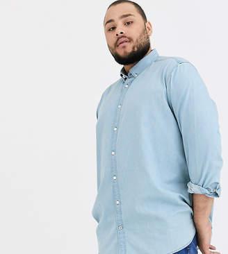 Tom Tailor Plus denim shirt-Blue