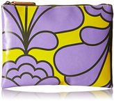 Orla Kiely Damask Flower Printed Tarpaulin Large Zip Wallet