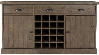Classic Home By Kosas Home Tuscany Reclaimed Pine Wine Cabinet