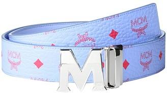 MCM Claus Reversible Belt (Blue Bell) Men's Belts