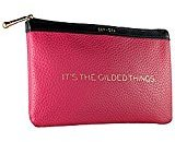 """Sephora It's The Gilded Things"""" Makeup Bag/Clutch, Hot Pink"""