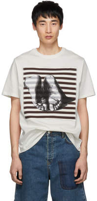 J.W.Anderson Off-White Albrecht Durer Edition Feet Patch T-Shirt