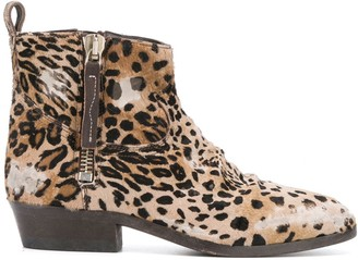 Golden Goose Viand leopard print boots