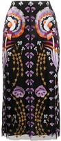 Temperley London Effie embroidered-tulle midi skirt