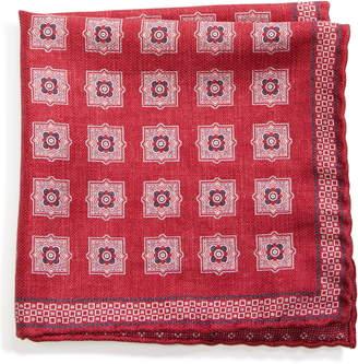 Brunello Cucinelli Medallion Silk Pocket Square