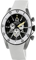 MOMO Design Men's 46.5mm Chronograph White Rubber Quartz Watch MD281-01BKWT-RB