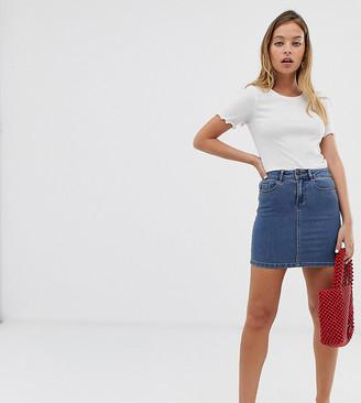 Vero Moda Petite denim mini skirt