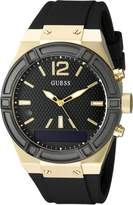 GUESS GUESS? Women's CONNECT Smartwatch with Amazon Alexa and Silicone Strap Buckle - iOS and Android Compatible - Black