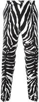 Dolce & Gabbana zebra print trousers - men - Cotton/Spandex/Elastane - 46