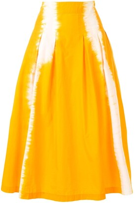 MSGM Tie-Dye Flared Skirt