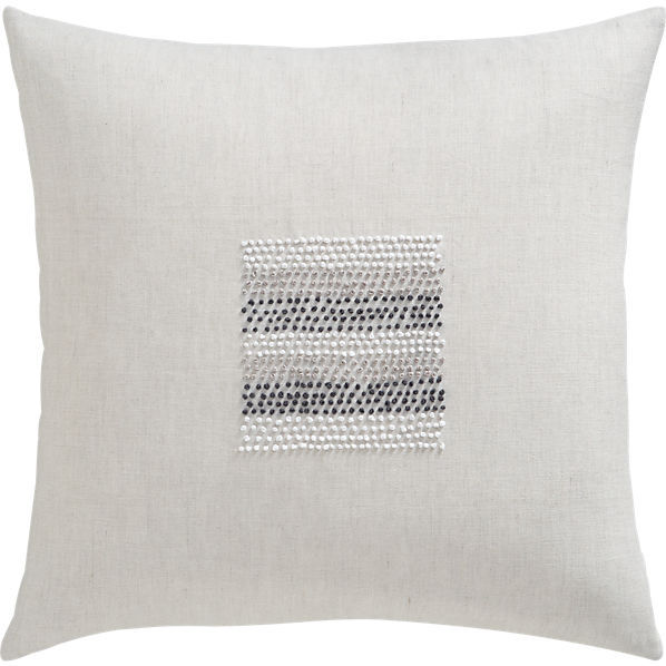 """CB2 Center Beads 20"""" Pillow"""